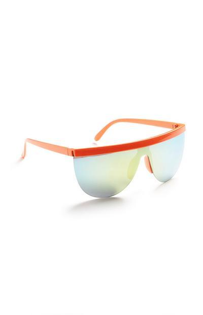 Orange Neon Sport Glasses