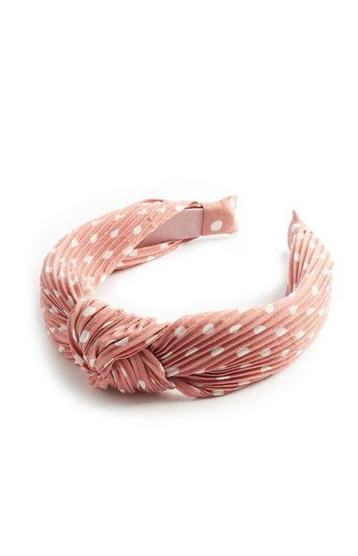 Blush Polka Dot Headband