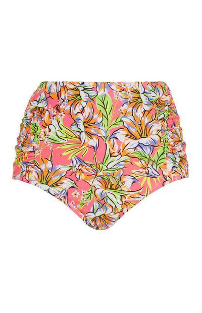 Floral High Waist Bikini Brief