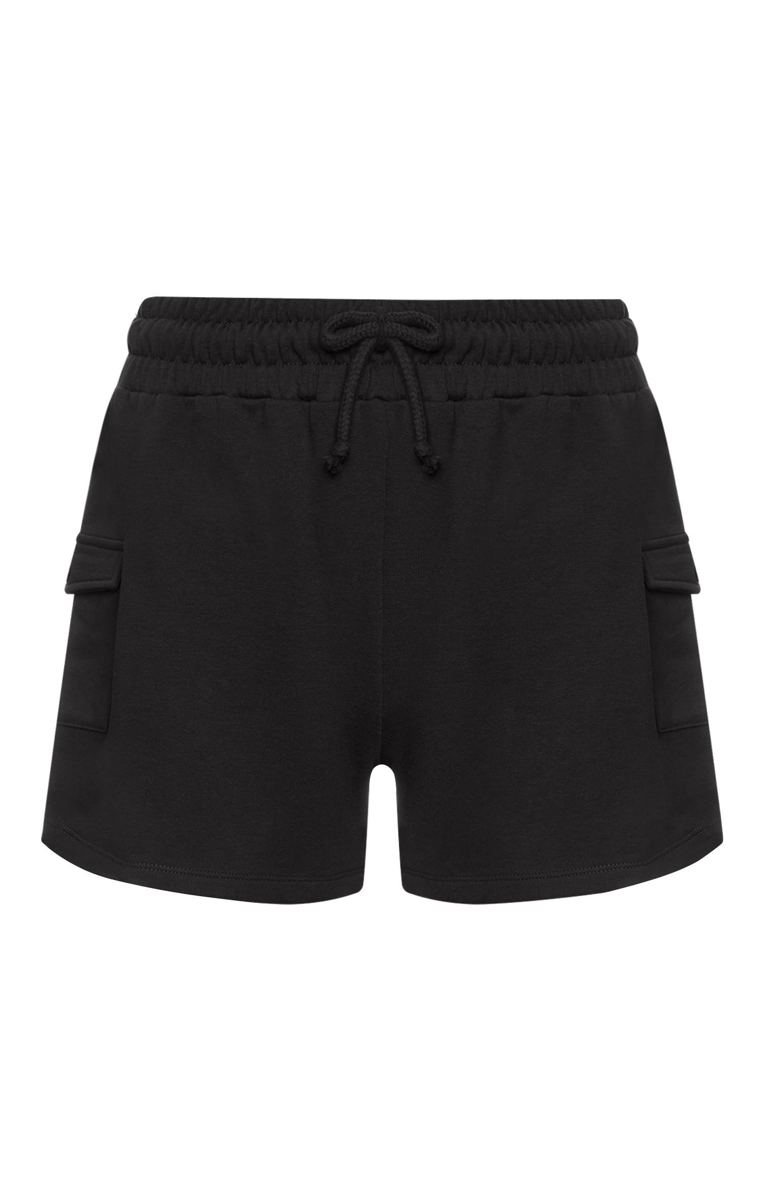 Schwarze Utility-Shorts