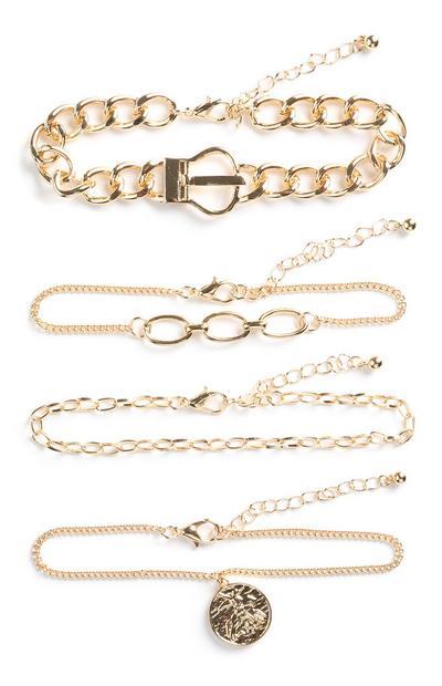 Coin Bracelet 4Pk