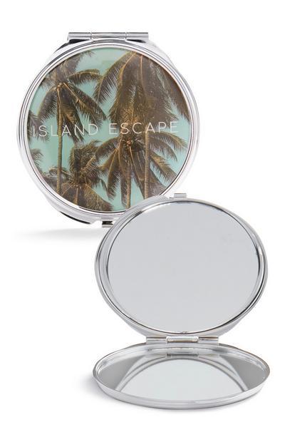 Taschenspiegel mit Palmendruck