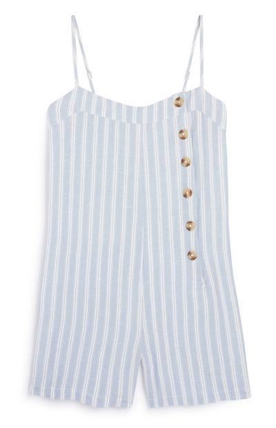 BLue Stripe Playsuit