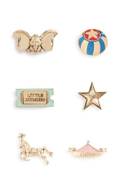 Dumbo Pin Badge 6Pk