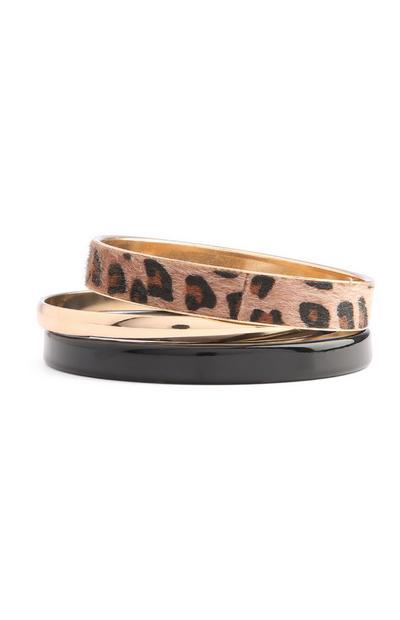 Leopard Print Bangle Set