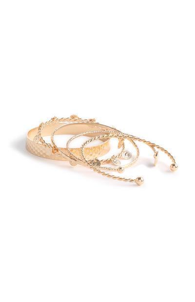 Gold Bangles 5Pk