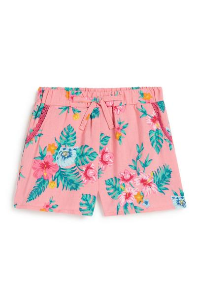 Baby Girl Floral Short