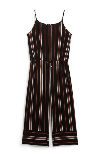 Older Girl Striped Jumpsuit