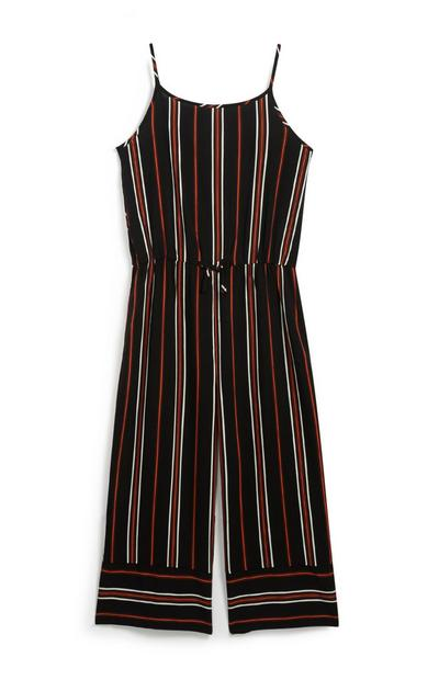 Older Girl Striped Jumpsuit