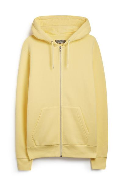 Yellow Zip Up Hoodie