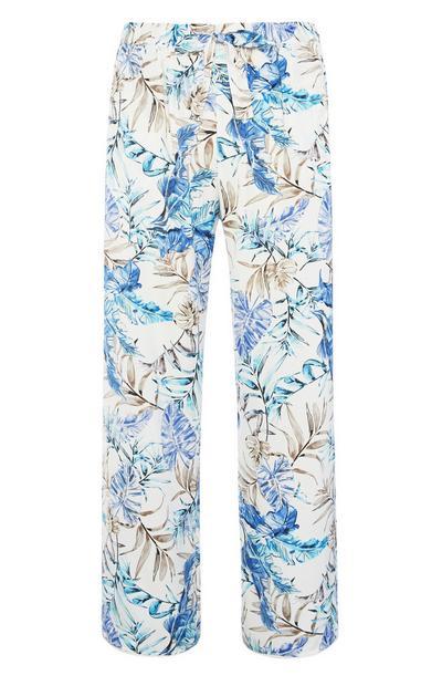 Floral Satin Pyjama Trouser