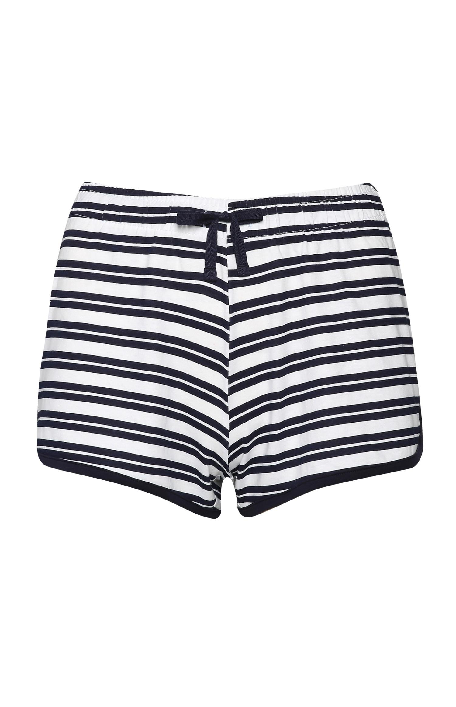 Shorts a righe blu navy