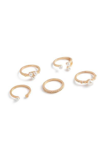 Pearl Ring 5Pk