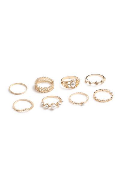 Pearl Ring 8Pk