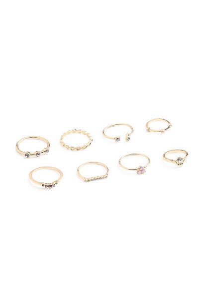 Stone Ring 8Pk