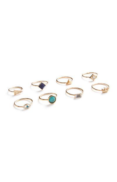 Filigraner Ring, 8er-Pack