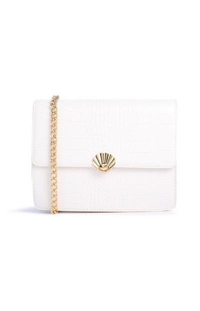 White Cros Shell Bag