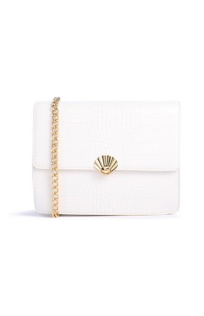 White Cros Shell Bag
