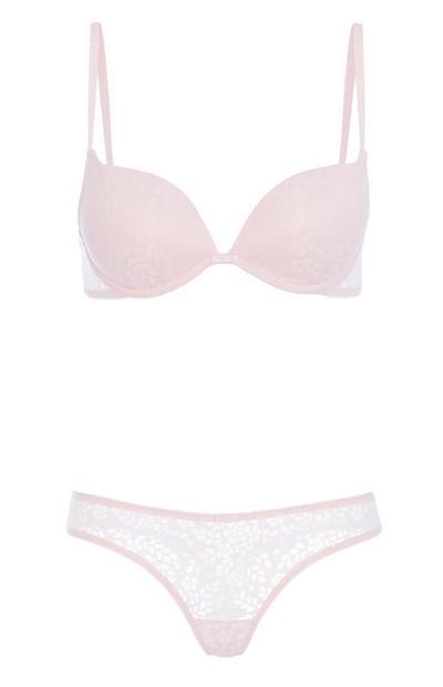 Lilac Lace Underwear Set