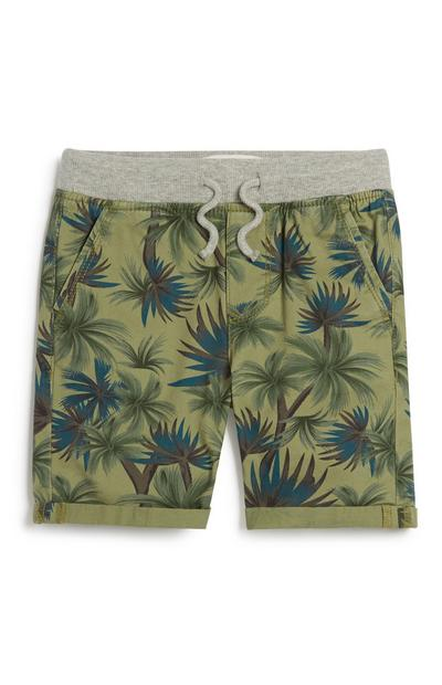 Younger Boy Palm Print Shorts