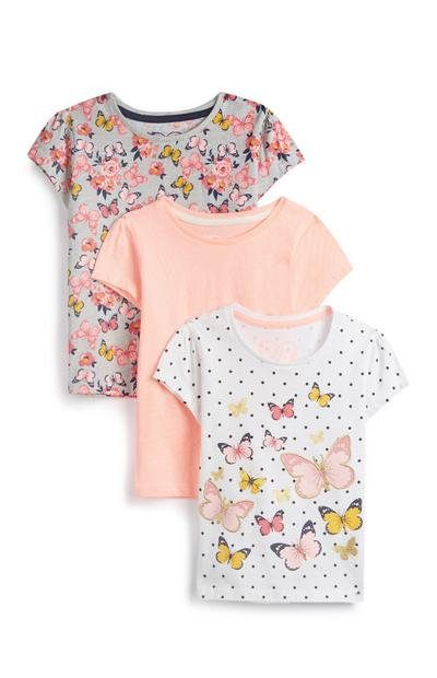 Baby Girl Butterfly T-Shirts 3Pk