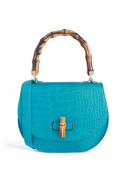 Blue Snake Print Bag