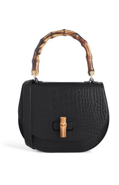 Black Snake Print Bag