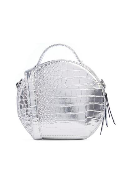 SIlver Croc Bag