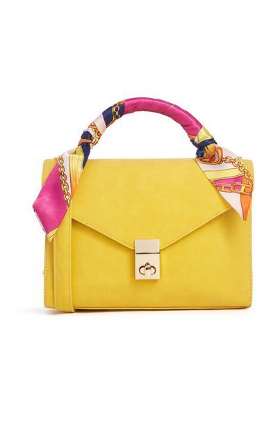 Yellow Scarf Handle Bag