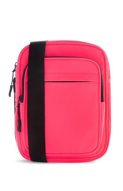 Pink Nylon Crossbody