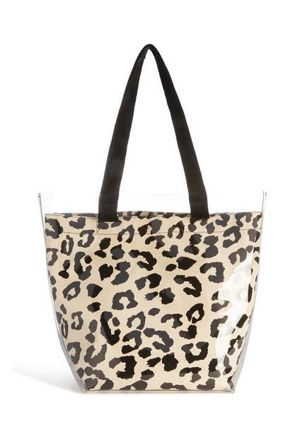 Clear Leopard Print Bag
