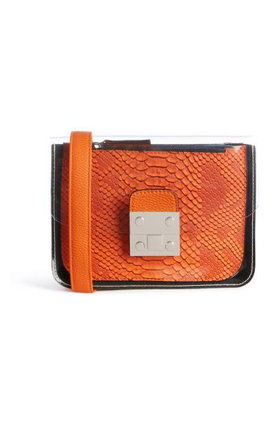 Clear Orange Bag