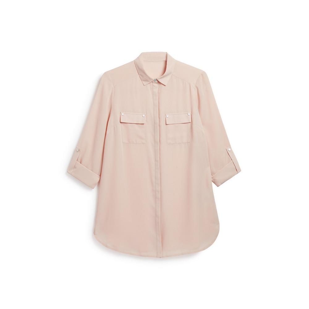 new style c834e 6a506 Camicia color cipria in stile militare | Camicie | Top ...