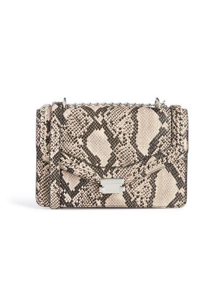 Snake Print Chain Bag