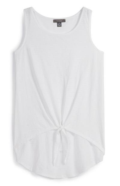 Tied Front Sleeveless Top
