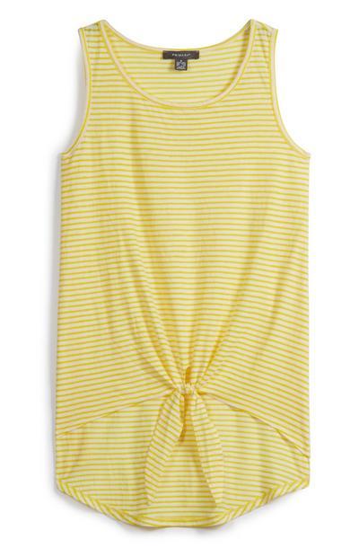 Tie Front Yellow Top