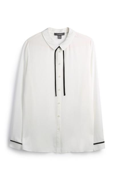 White Crepe Shirt