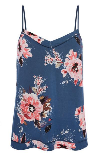Blue Poppy Pyjama Cami