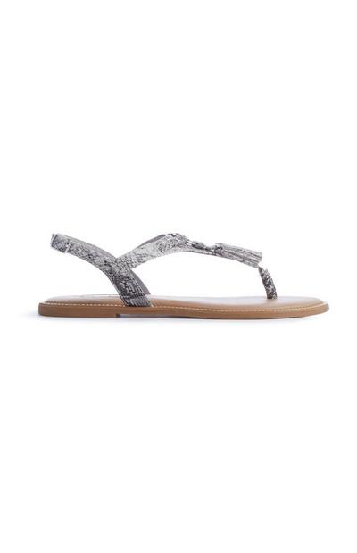 Snake Tassel Sandal