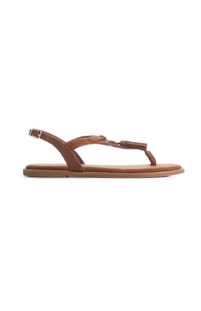 Tan Tassel Sandal