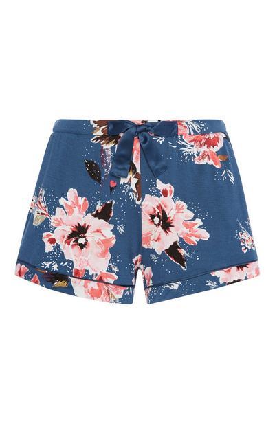 Blue Floral Pyjama Short