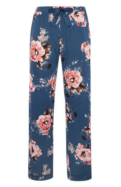 Blue Poppy Pyjama Trouser