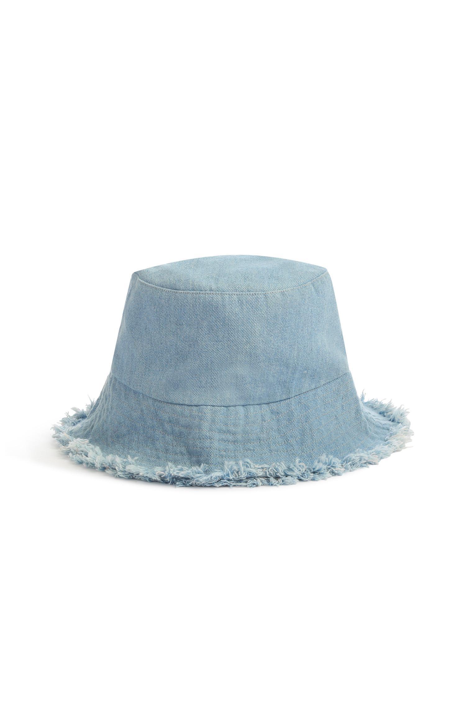5360ea794 Frayed Denim Bucket Hat   Hats, Gloves & Scarves   Womens ...