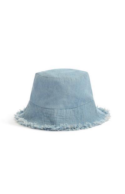 Frayed Denim Bucket Hat