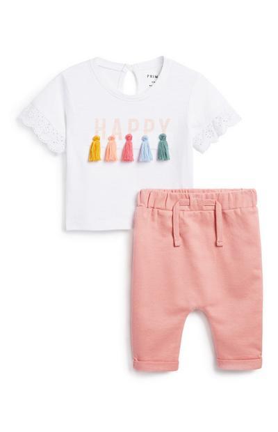 Baby Girl Tassel T-Shirt and Jogger