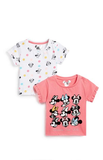 Baby Girl Minnie Mouse T-Shirt 2Pk
