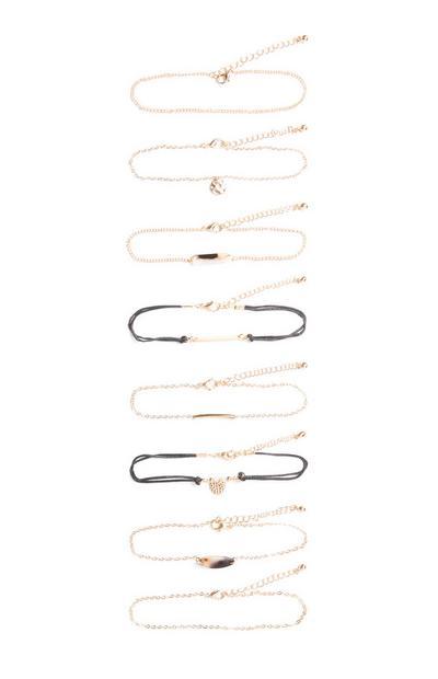 Gelbe Armbänder, 8er-Pack