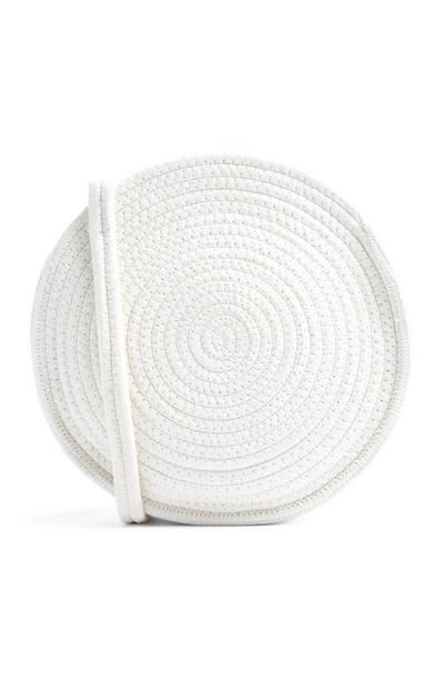 Cream Circualr Bag