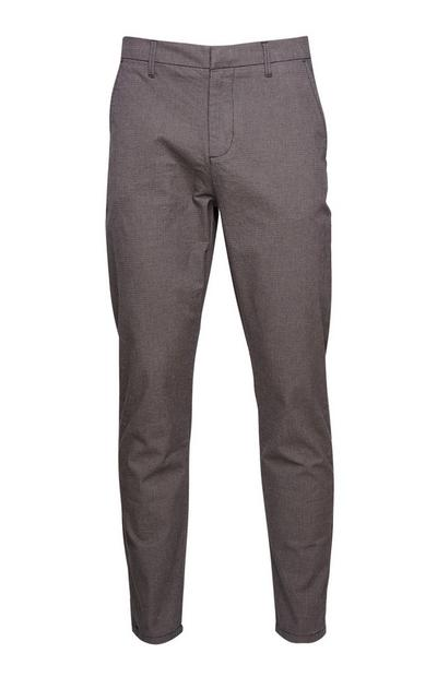 Grey Peg Trousers