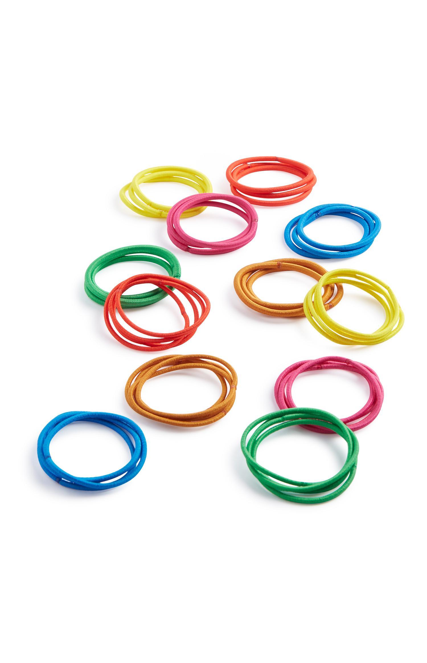 Colourful Hair Bands 60Pk